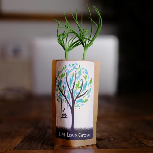 Let Love Grow Tree Pouch