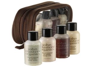 John Masters organic travel kit