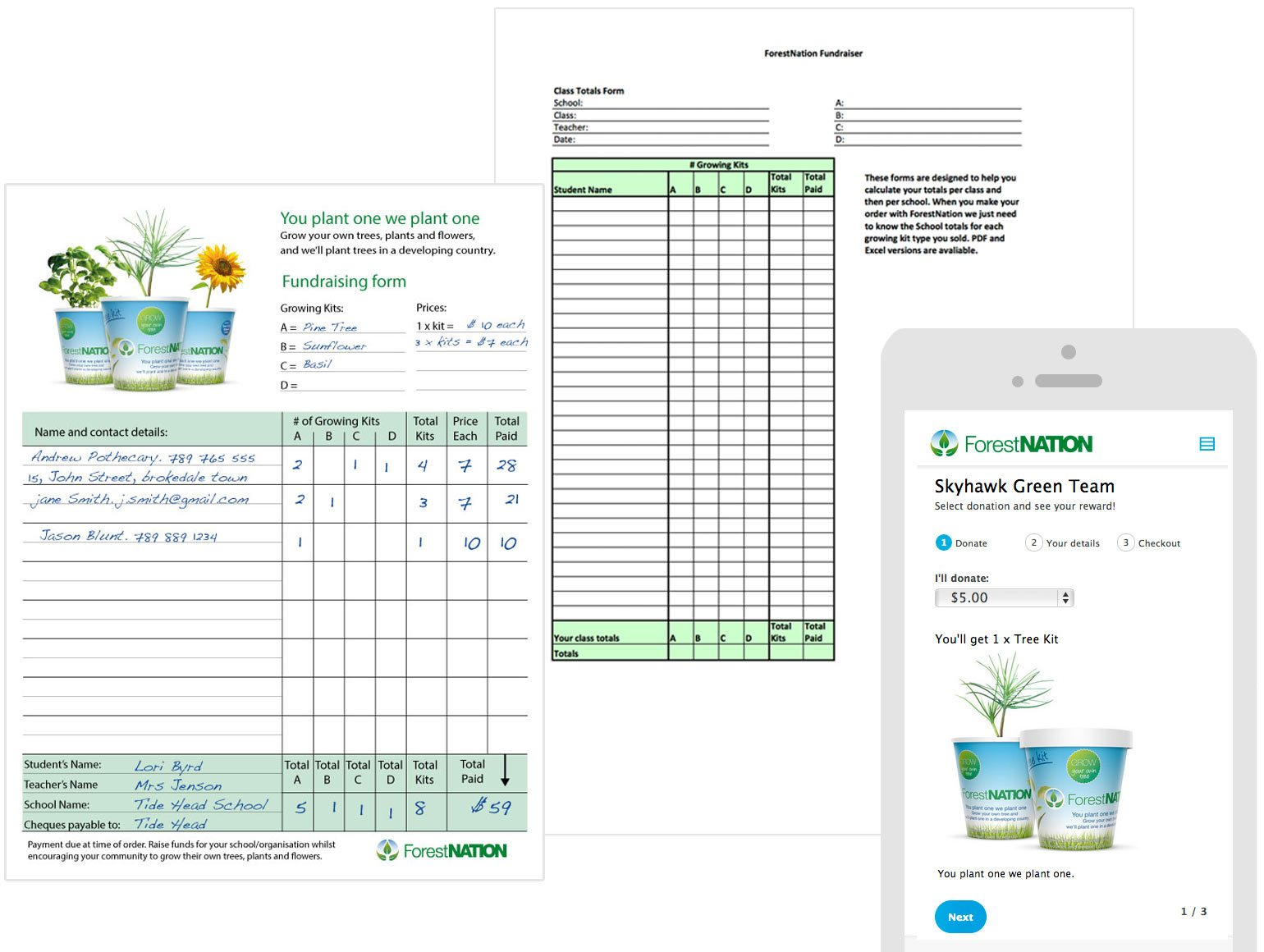 fundraising forms