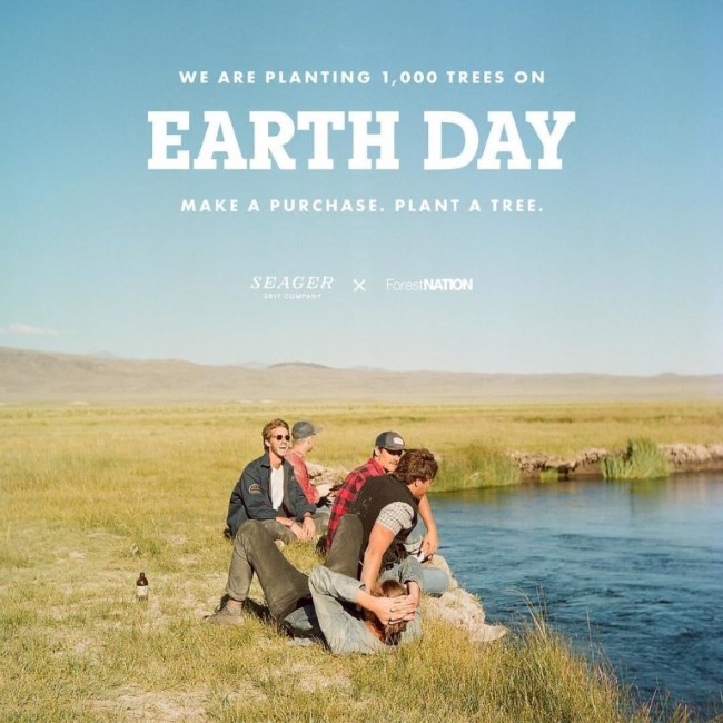 seager co earth day campaign with forestnation