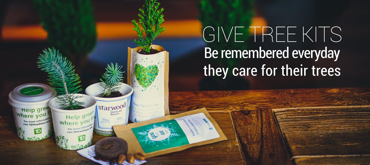 Give trees kits. Be remembered everyday with eco friendly hit promotional products.